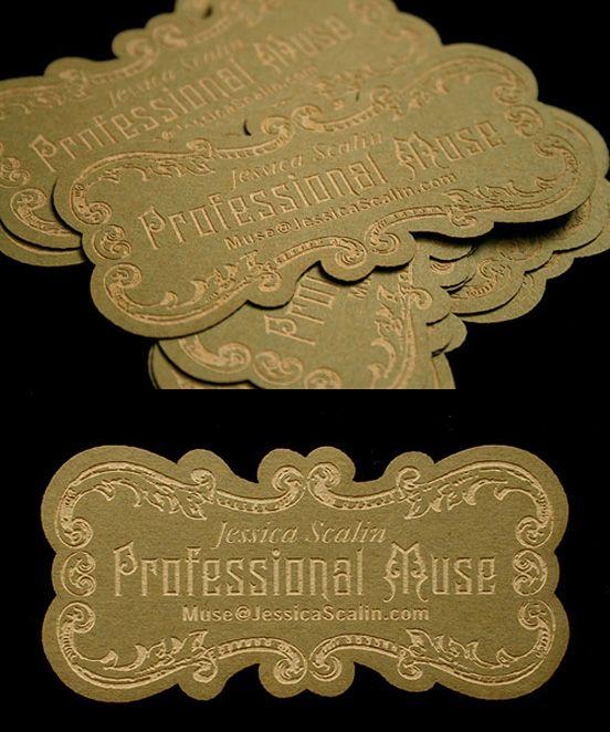 die-cut business card via thedesigninspirat...