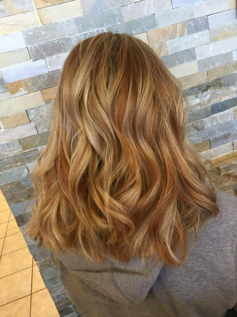Caramel Highlights Copper Lowlights Hair In 2019 Cabello