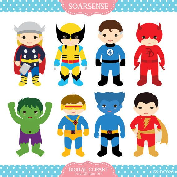 Superheroes Clipart  2 by soarsense on Etsy, $5.00