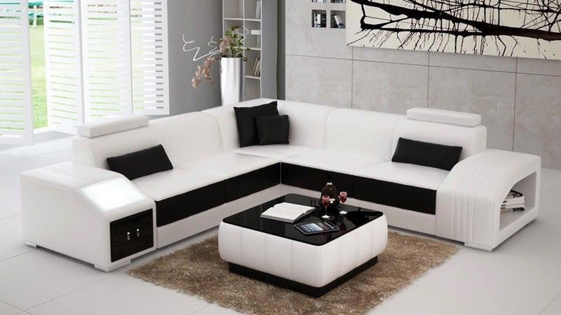 Dubai Sectional Sofa From Opulent Items Ihso02190 Modern Sofa Sectional Modern Leather Sofa
