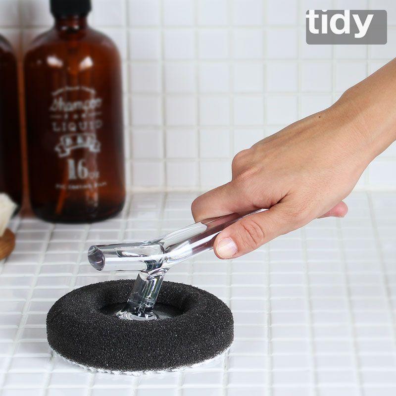 スタイリッシュなバスタブ掃除用 バススポンジ お風呂掃除 Tidy