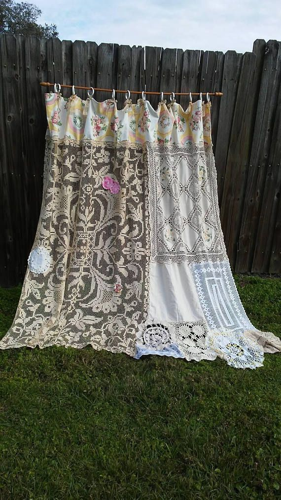 Cool & Unique shabby chic Shower Curtain Ideas for Small ...