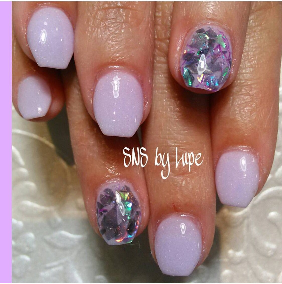 SNS nails (dipping powder) by Lupe ! | Need to try at Bliss | Pinterest