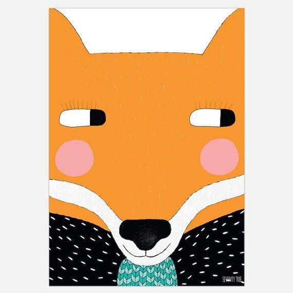 Big Fox 30 x 40 Print by seventytree on Etsy