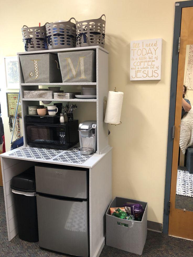 Kitchenette Cabinet For Dorm Room Sharp Davis At Lee University Kitchenettecabinets Dorm Room Kitchen Dorm Kitchen Dorm Room Food