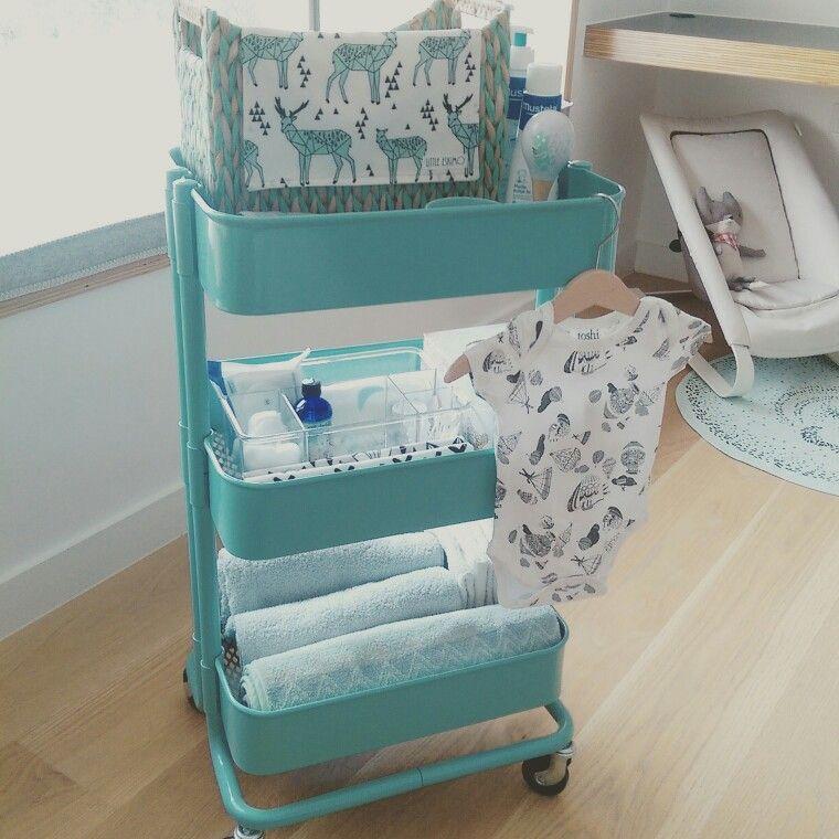 ikea raskog cart baby nursery change table trolley baby stuff pinterest raskog cart. Black Bedroom Furniture Sets. Home Design Ideas
