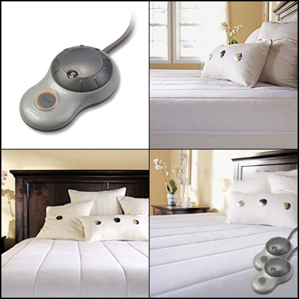 Quilted Heated Mattress Pad w/ Dual Side Controls ...