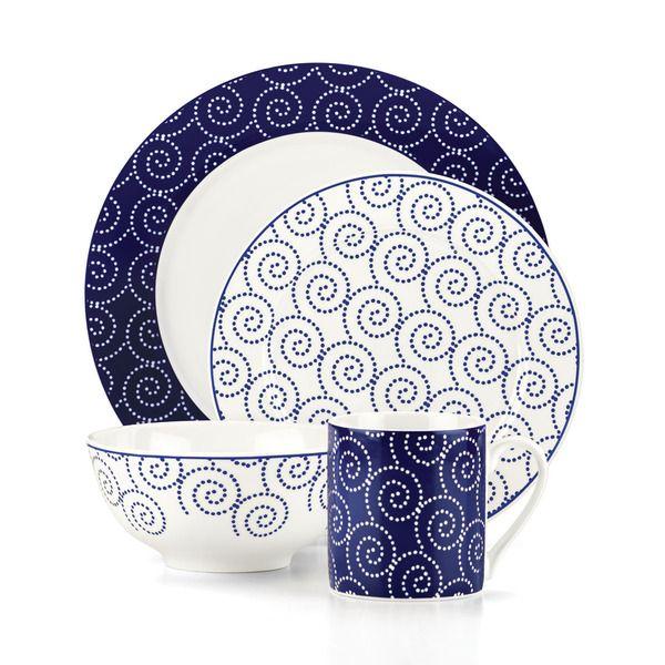 Emeril St Louis Blue 16 Piece Dinnerware Set - Overstock™ Shopping - Great Deals on  sc 1 st  Pinterest & Emeril St Louis Blue 16 Piece Dinnerware Set - Overstock™ Shopping ...