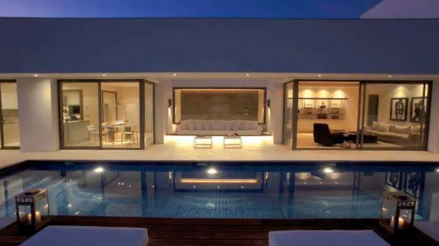 Casa estilo zen en marbella fachadas de casas y casas for Casas pintadas por dentro