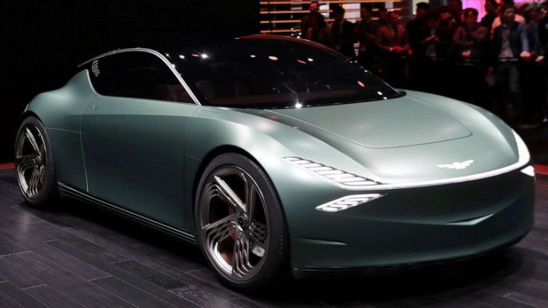 The Hottest Car At The New York Auto Show Is A 2 Door Electric Concept Concept Cars Hot Cars Car