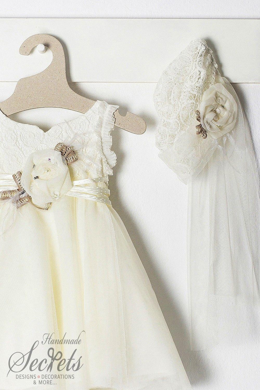 31accc95066 Φόρεμα Aggela σε 4 μεγέθη για κορίτσι μαζί με ασορτί μπαντάνα, annassecret,  Χειροποιητες μπομπονιερες