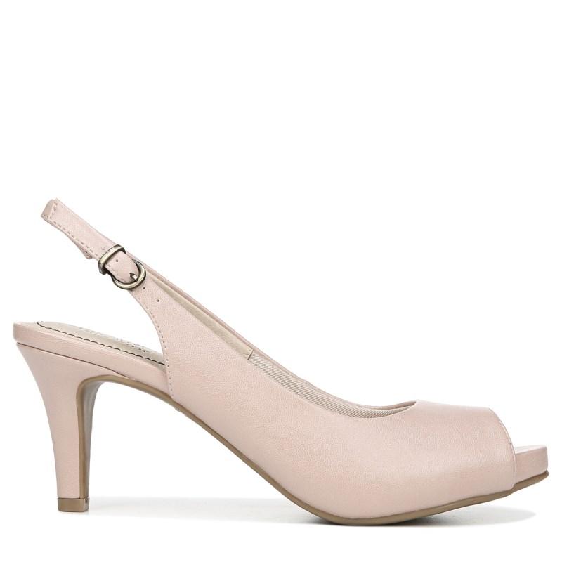 f005e3ed741 Lifestride Women s Teller Narrow Medium Wide Peep Toe Pump Shoes (Pink)