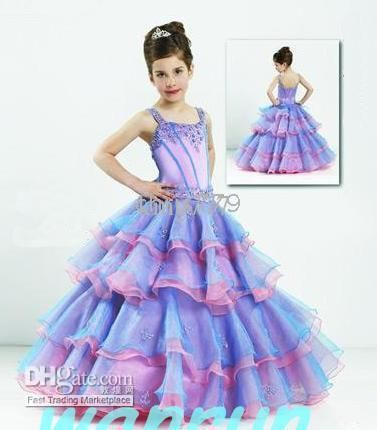 511334d396 Wholesale Custom-made purple flowert girl party dress gown Junior  Bridesmaid Dresses 96