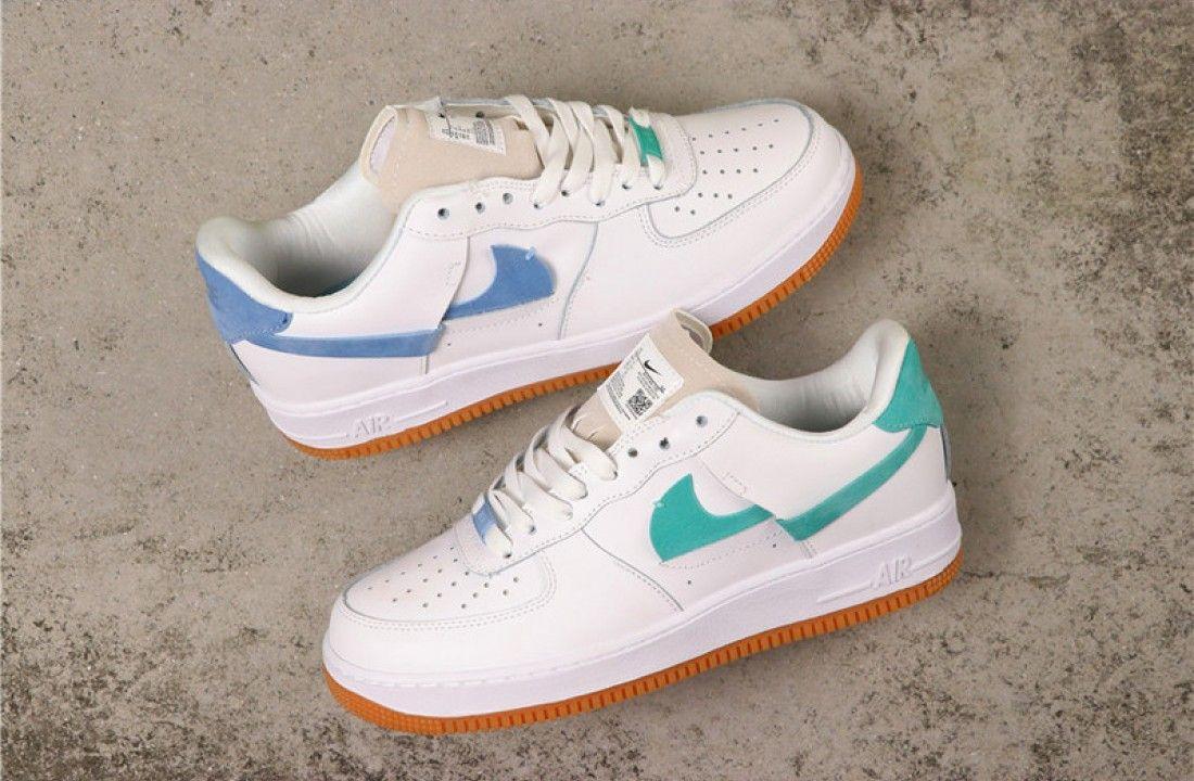 """2020 Nike Air Force 1 '07 LXX """"Vandalized"""" WhiteOrange Blue"""