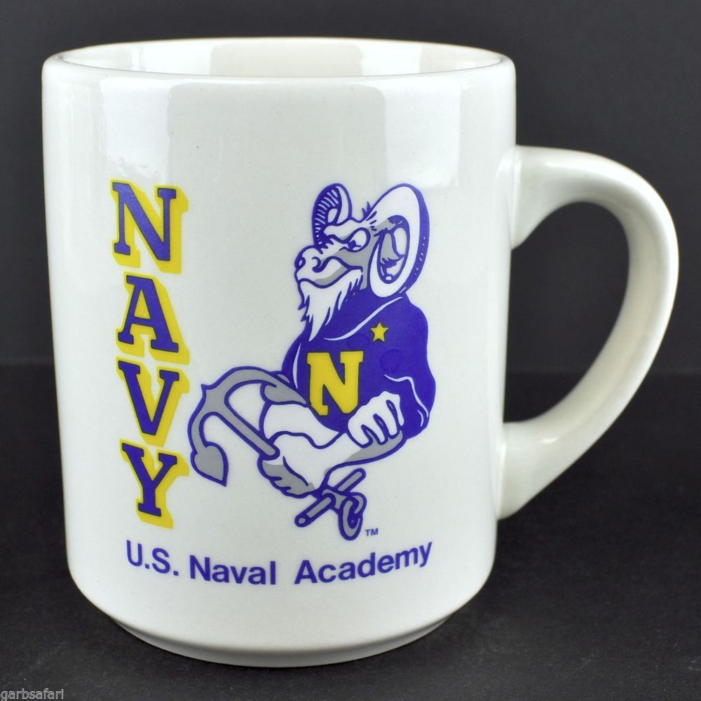 U S Naval Academy Navy Coffee Mug Tea Cup Ram Anchor Mascot Annapolis Officer