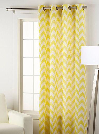 le rideau rayures chevrons 51 x 86 pouces les rideaux les salon et le chambre. Black Bedroom Furniture Sets. Home Design Ideas