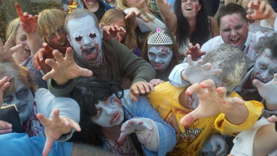 An image from Richmond, Indiana's first zombie walk in October, 2011. Courtesy of Happy Heathens.