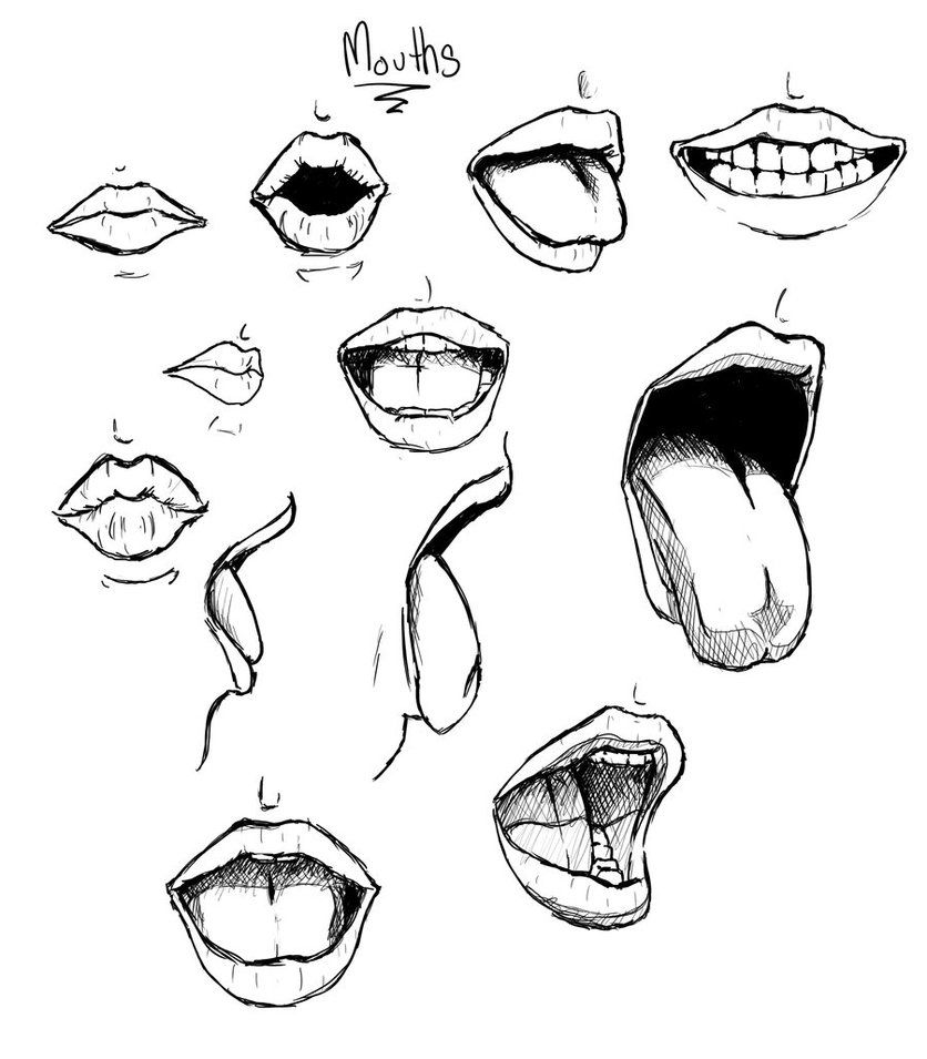A variety of mouths by rachelfrasier on deviantart