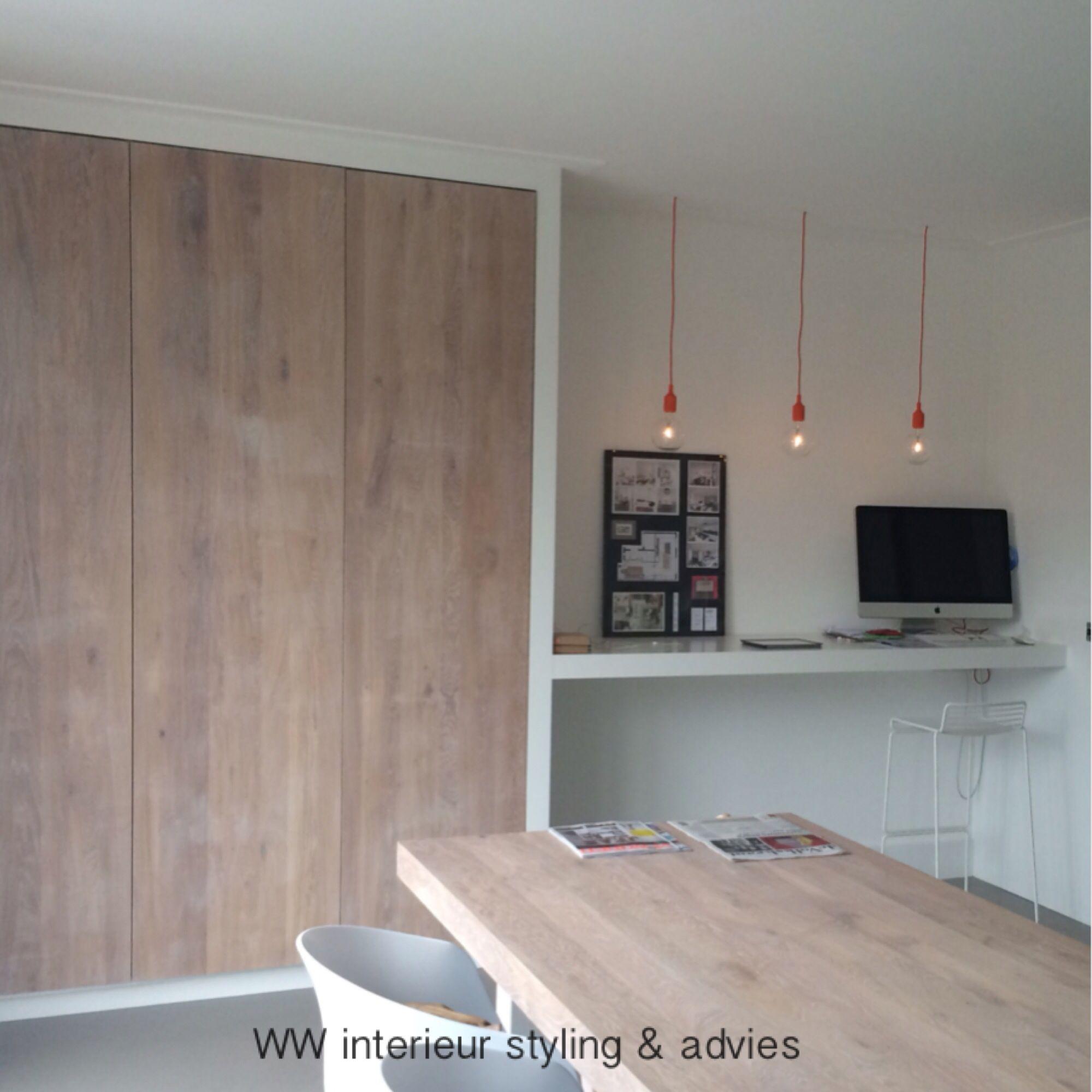 Werkplek kastruimte in keuken ww interieur styling for Interieur advies