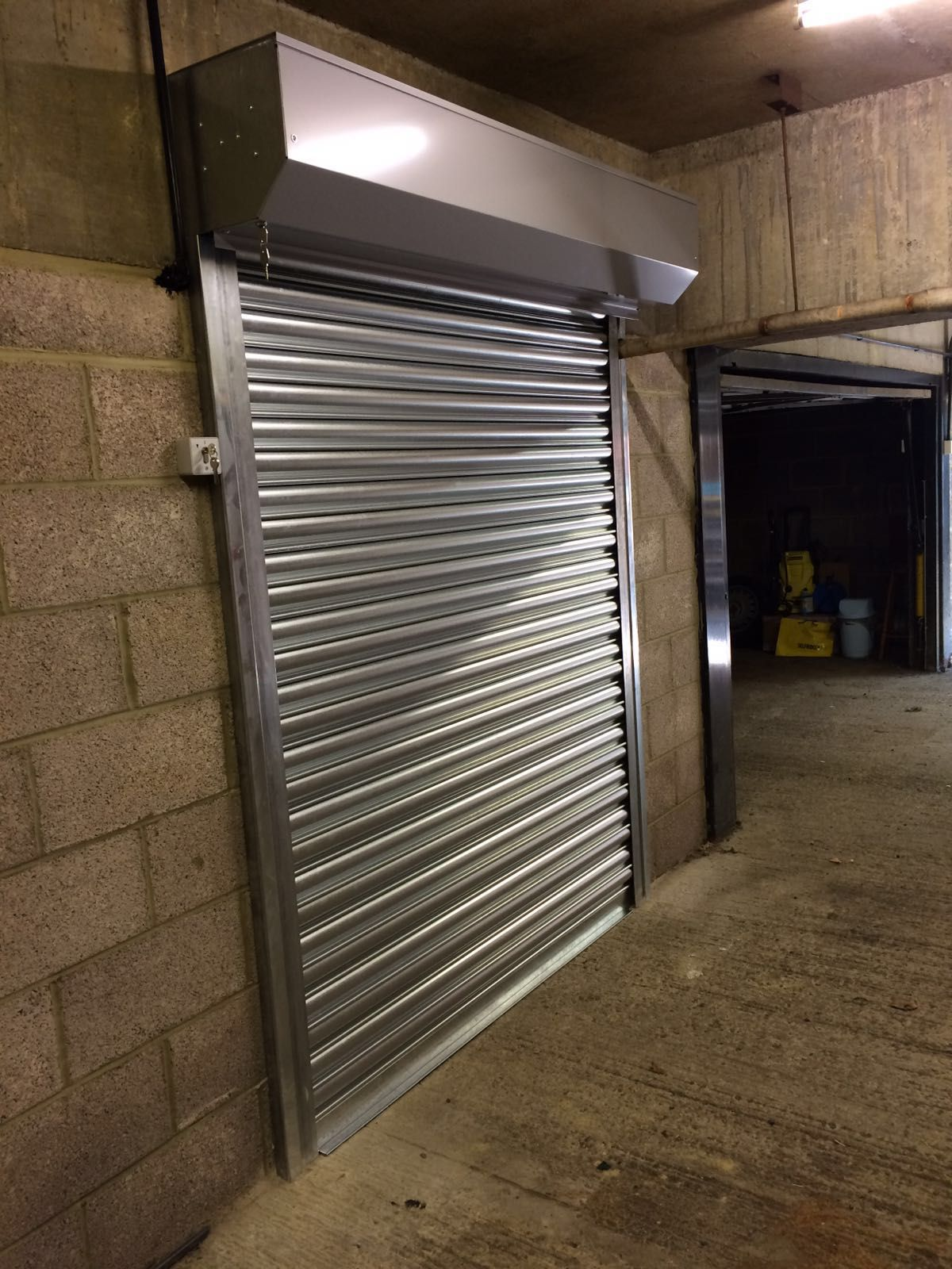 Our Rsg5000 Galvanised Steel Roller Shutter Fitted To A Commercial Storage Room In North London Roller Shutters Shutters Galvanized Steel