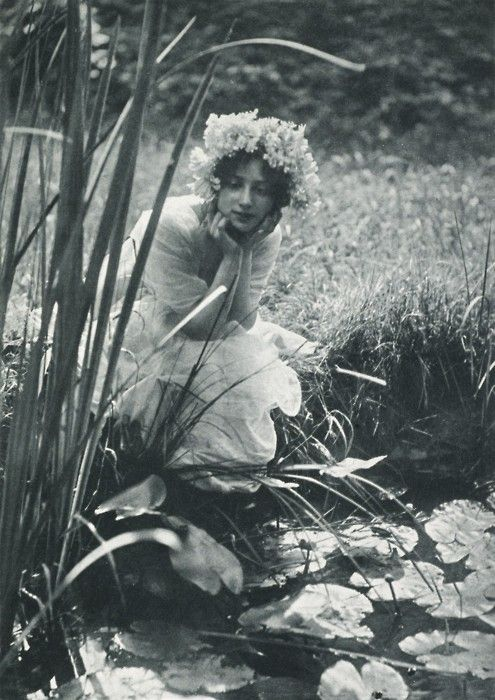 Looking for Fairies; Edwardian Photo, always beleived fairies lived at the bottom of our garden!