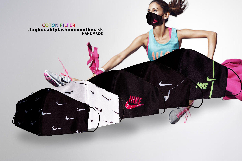 5 Pcs Nike Face Mask, Protective Sports Mouth Mask, 4