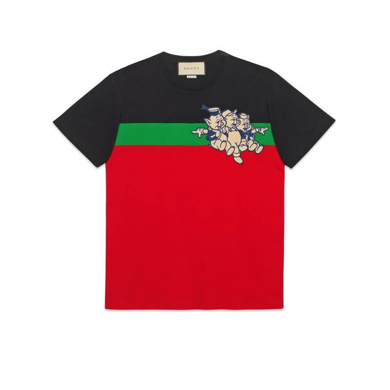 58501fa4f289 GUCCI MEN'S OVERSIZE T-SHIRT WITH THREE LITTLE PIGS. #gucci #cloth ...