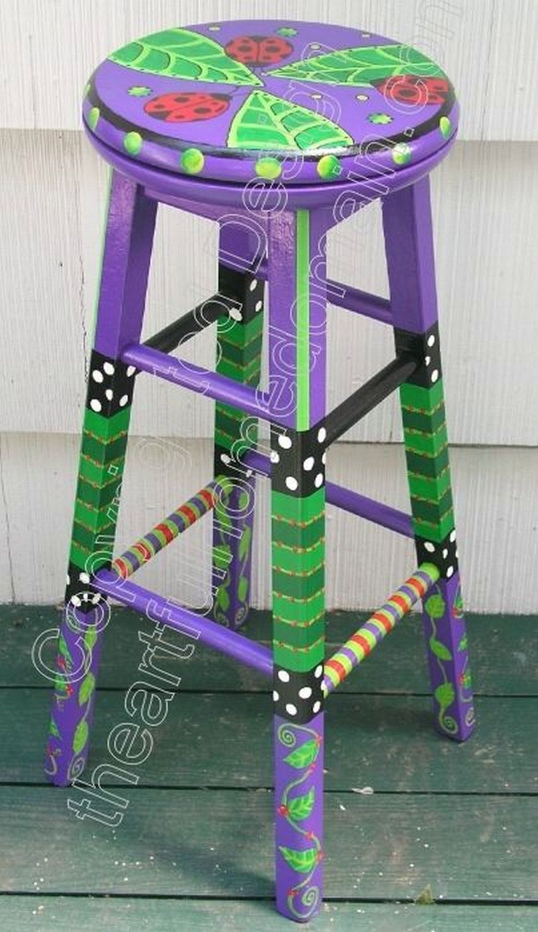 81 cool painted stool inspirations furniture design - Hand painted furniture ideas ...