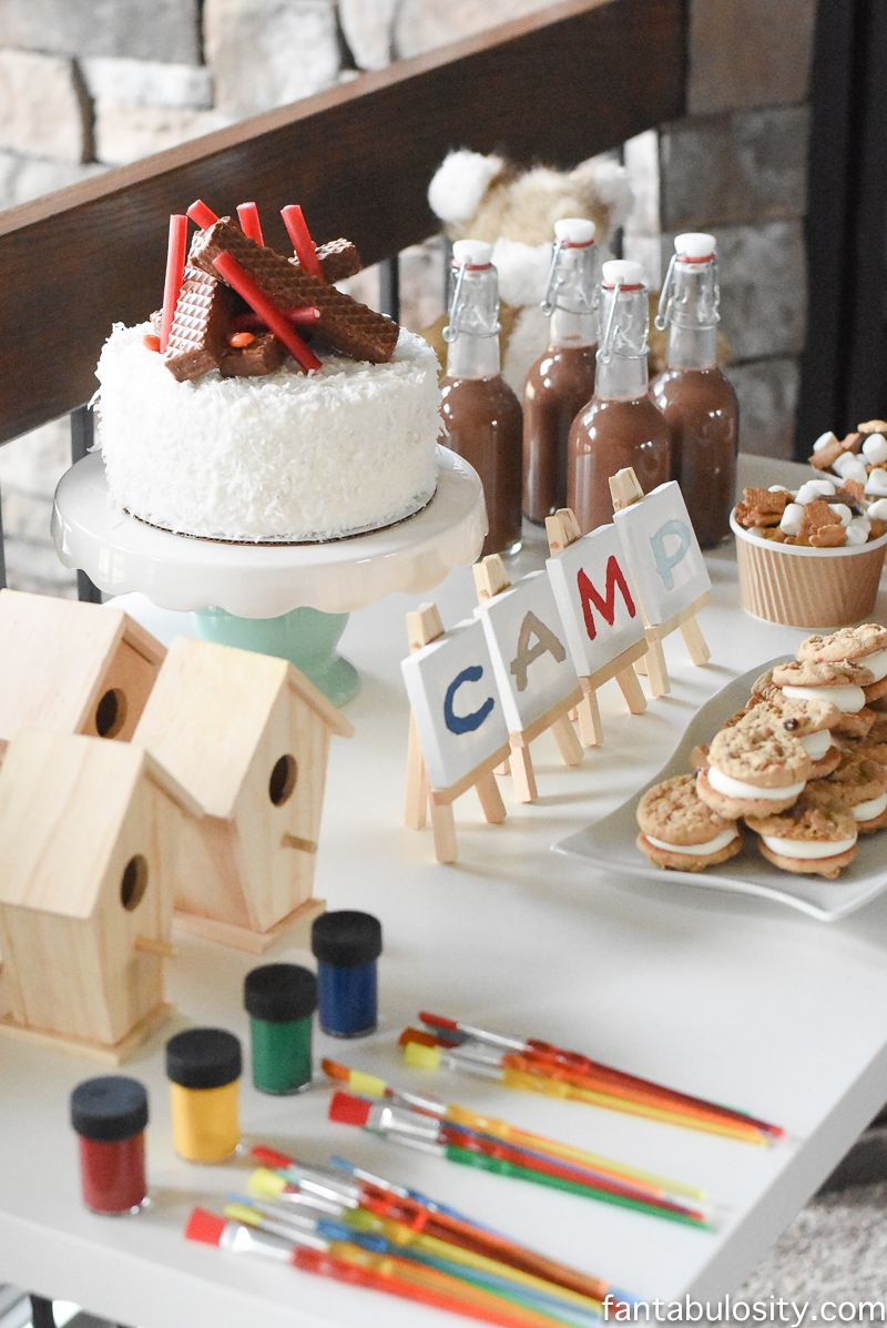 Camping Birthday Party Ideas For Indoors Camping Party