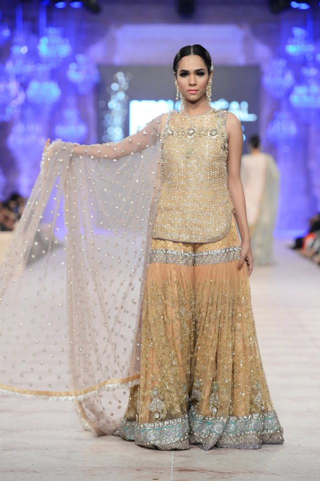 Karma Red Bridal Collection at PFDC L'Oréal 2014: Gharara
