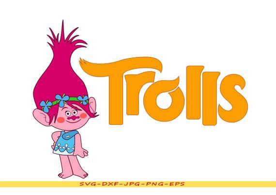 Troll Princess Poppy Svg Clip Art Digital Format Eps Dxf Png