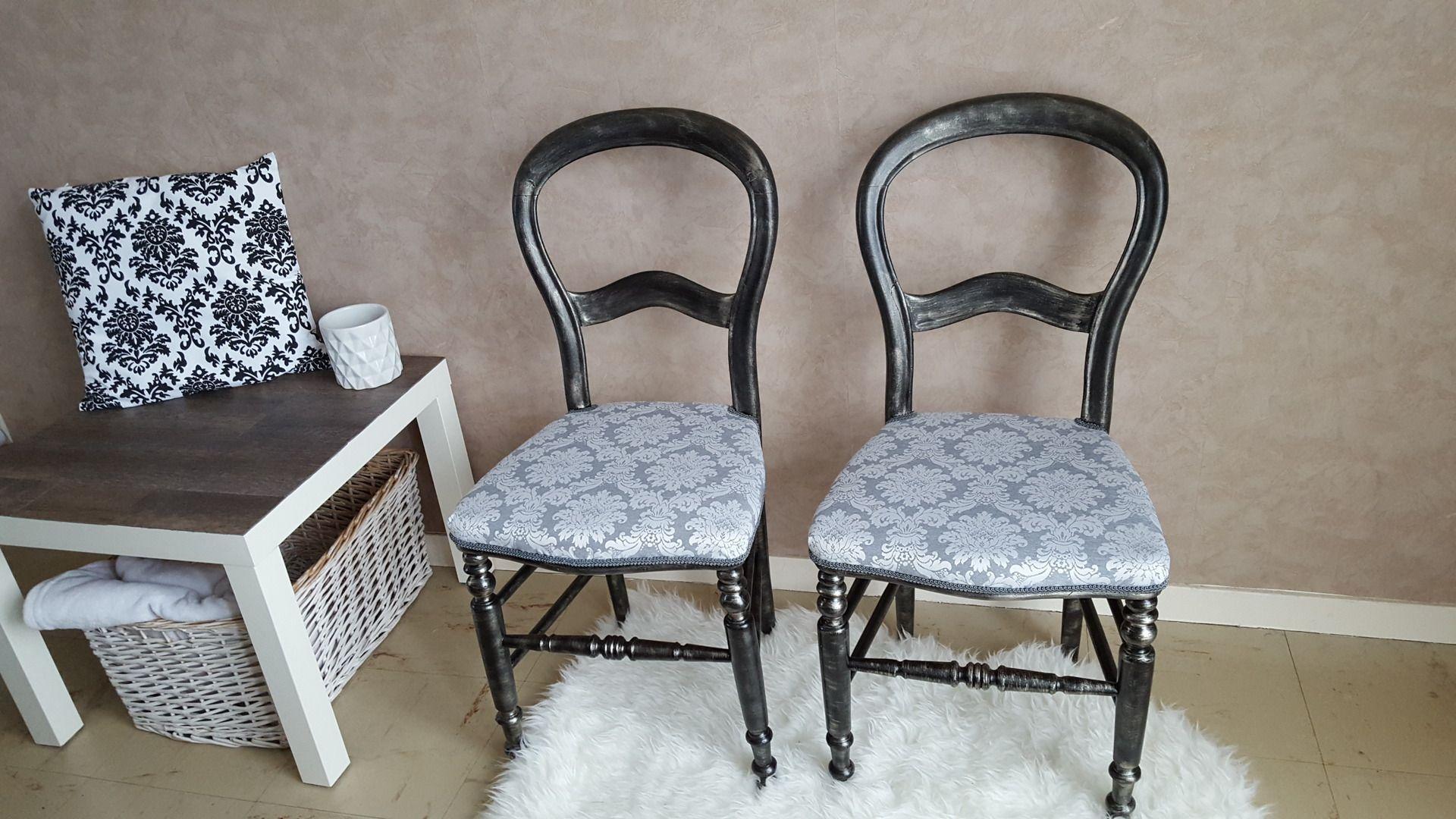 Lot De 2 Chaises Louis Philippe Relookees Baroque Meubles Et Rangements Par Vintage61 Mobilier De Salon Chaise Louis Philippe Relooker Meuble