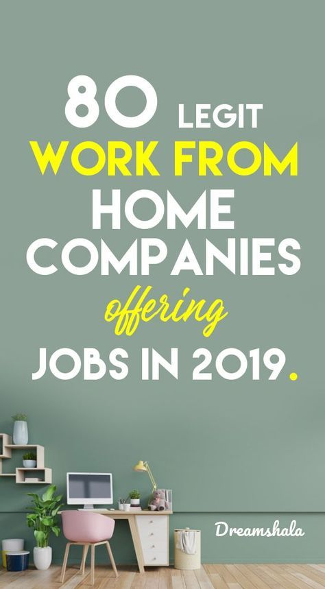 80+ Genuine Ways To Find Work At Home Jobs in 2020 - Dreamshala