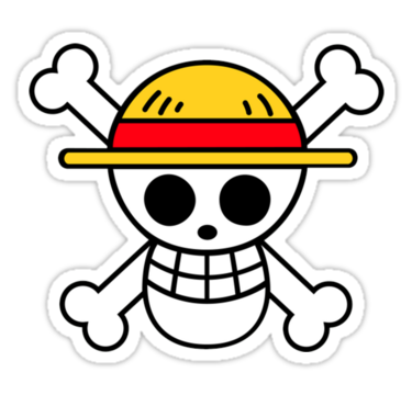 Luffy jolly roger sticker