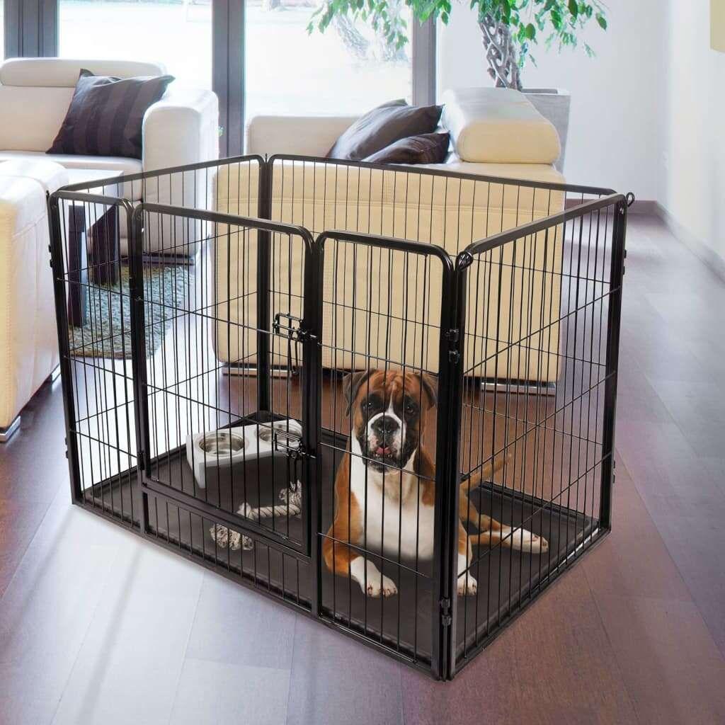 FLAMINGO Kazan S size black dog kennel 93 x 59 x 64 c …