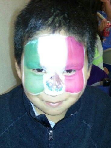Mexico flag face paint
