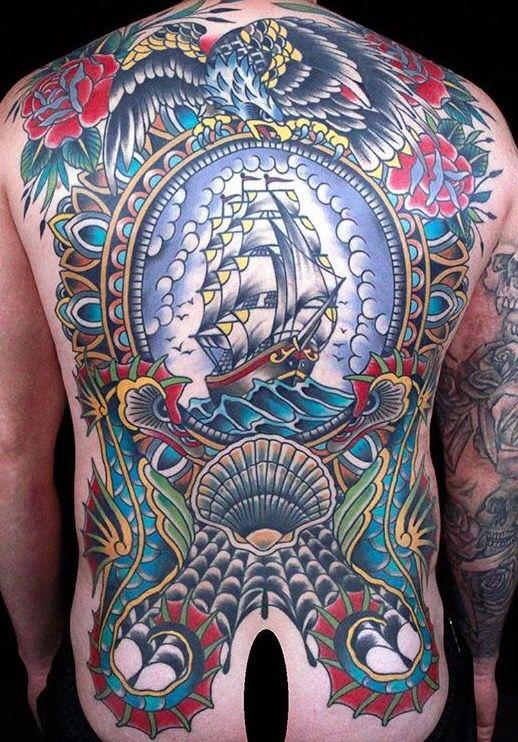 American Traditional Tattoo By Kruseman