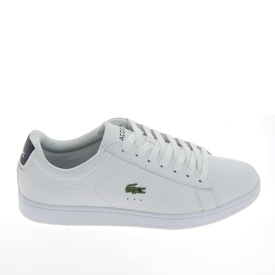 f0d7fc65c6 LACOSTE Carnaby Evo Blanc Croco | LACOSTE | Lacoste sneakers ...