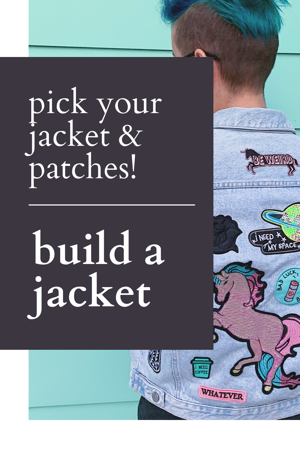 Pick your jacket and patches! Build a jacket & create a custom statement outfit! Thrifted & Vintage