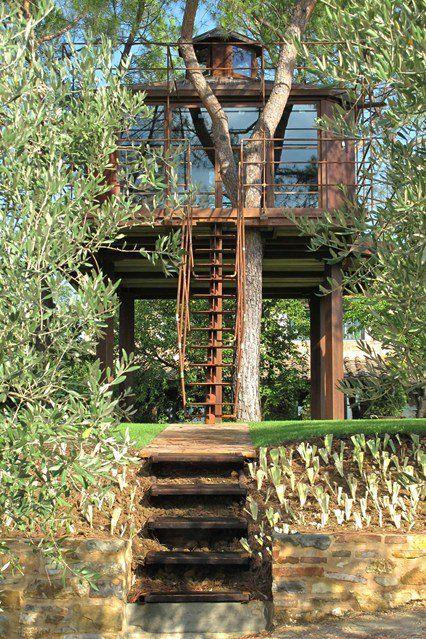 Permalien De Limage Intégrée Tree Houses Maison Bois Cabane