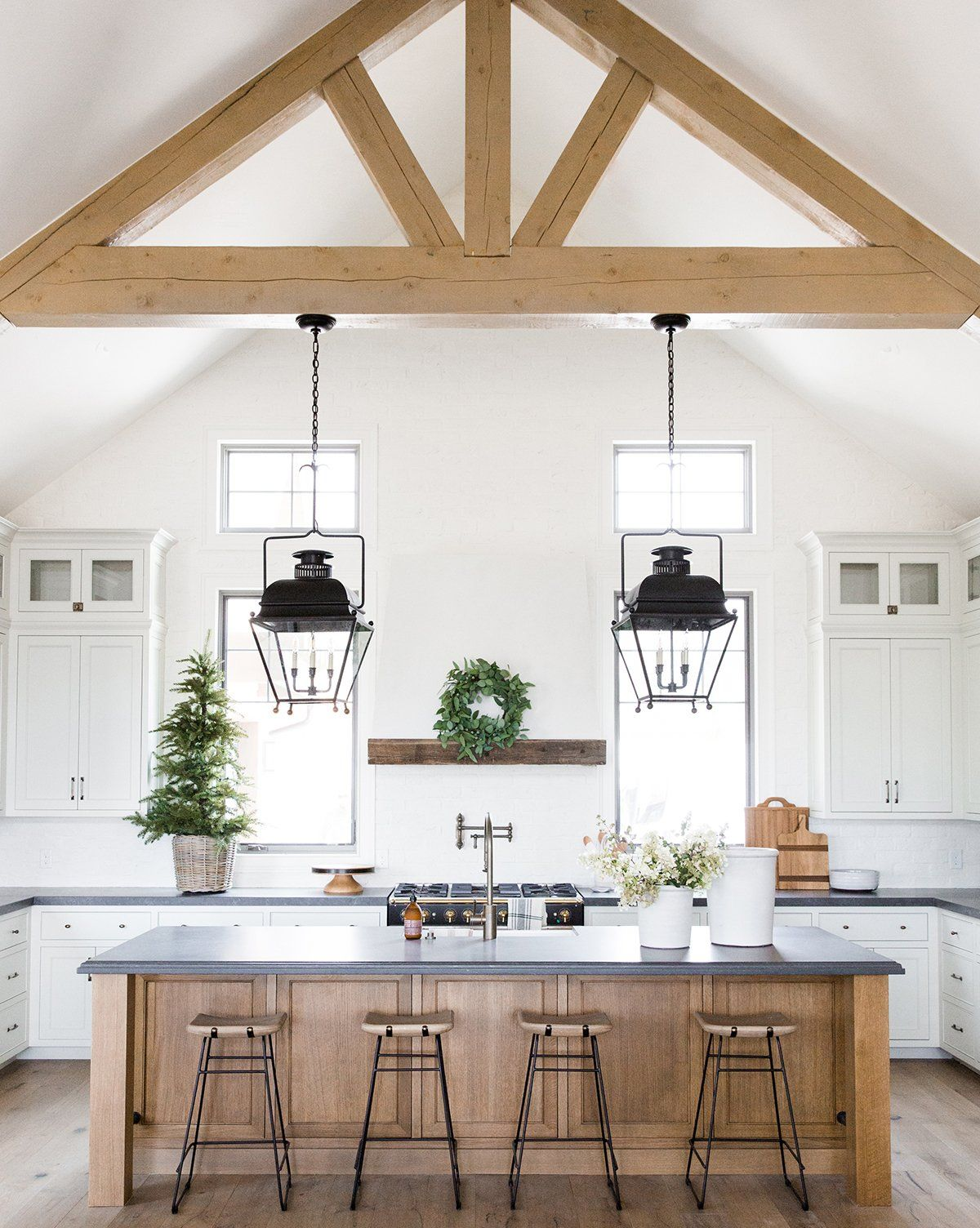 crackle cream planter large farmhouse kitchen decor farmhouse style kitchen modern on farmhouse kitchen kitchen id=76880