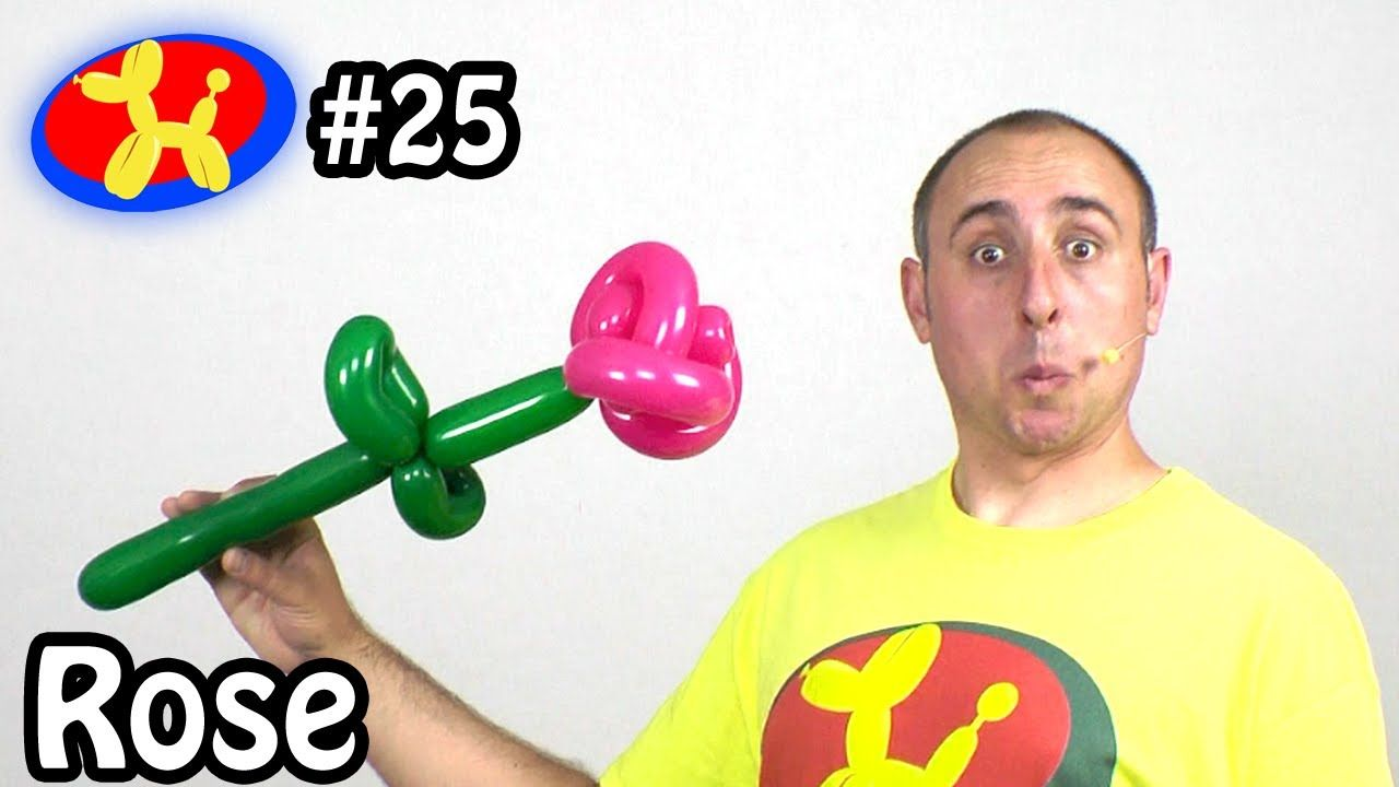Learn how to make balloon animals. ( globoflexia ) This episode will teach you how to make a Two Balloon Rose Flower. Twitter: https://twitter.com/mbfloyd Fa...
