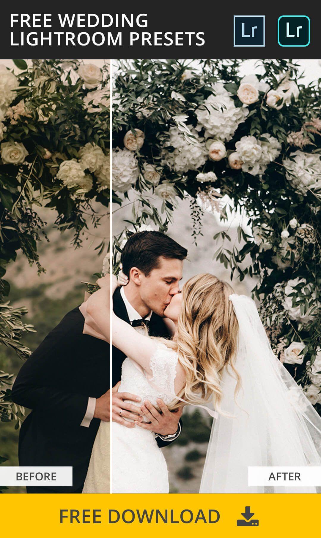 Edit wedding photos in lightroom
