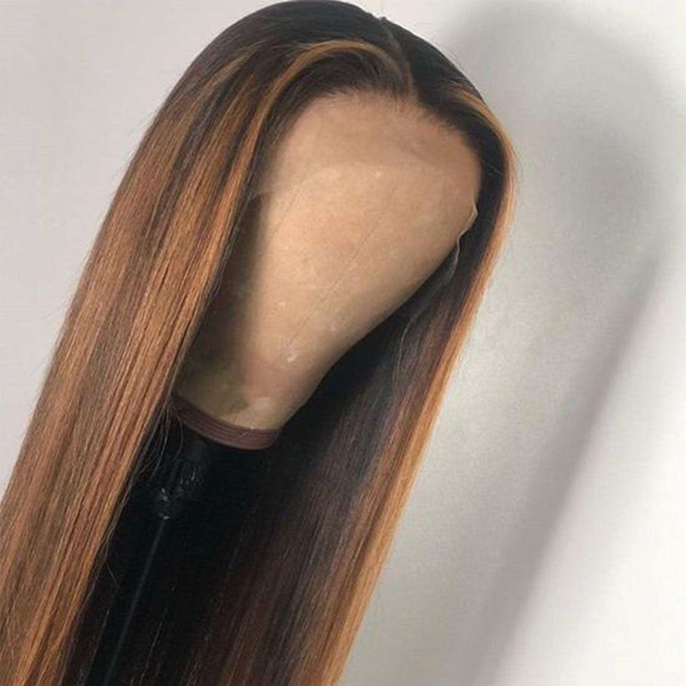 13x6 150 Density 1b/27 Ombre Human Hair Wigs Highlight
