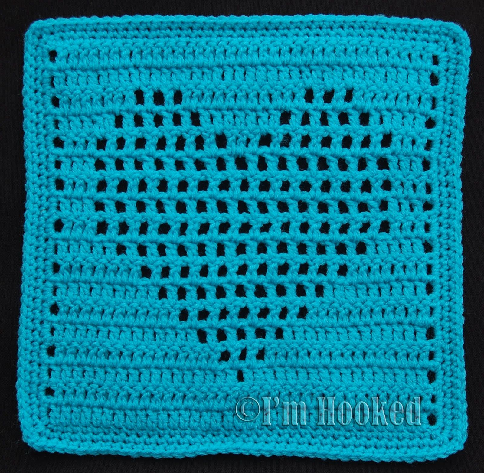 Heart in square maybe modify this somehow to make a kitchen free crochet pattern heart filet block 2 pattern also available with solid heart free crochet patterns bankloansurffo Image collections