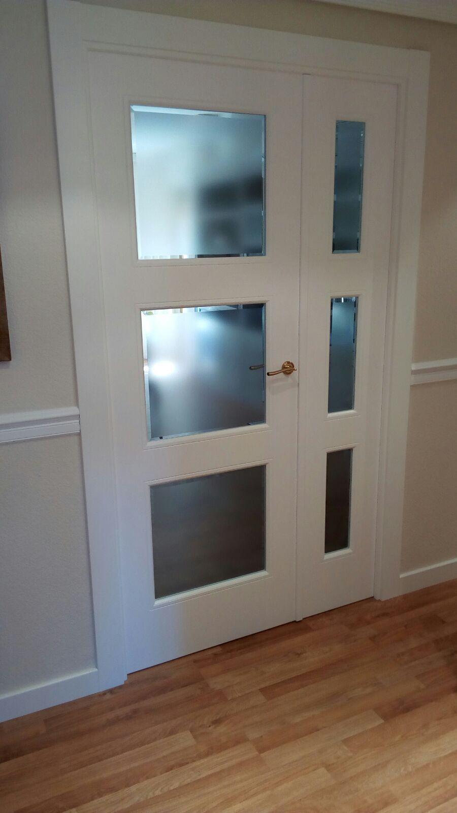 Excelentes modelos totalmente libres de hoja doble puerta Estilo, hoja de puerta de vidrio ...