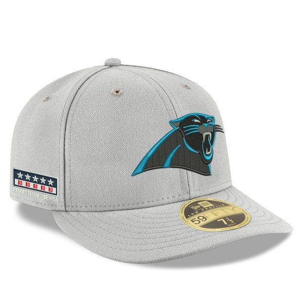 Carolina Panthers New Era Crafted in the USA Low Profile 59FIFTY Fitted Hat  - Gray  CarolinaPanthers a7a2da442