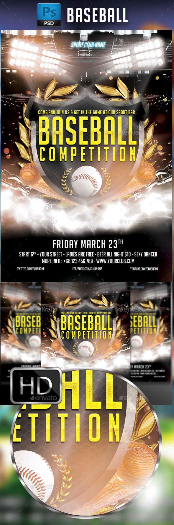 Baseball Flyer  Flyer Template Event Flyers And Event Flyer