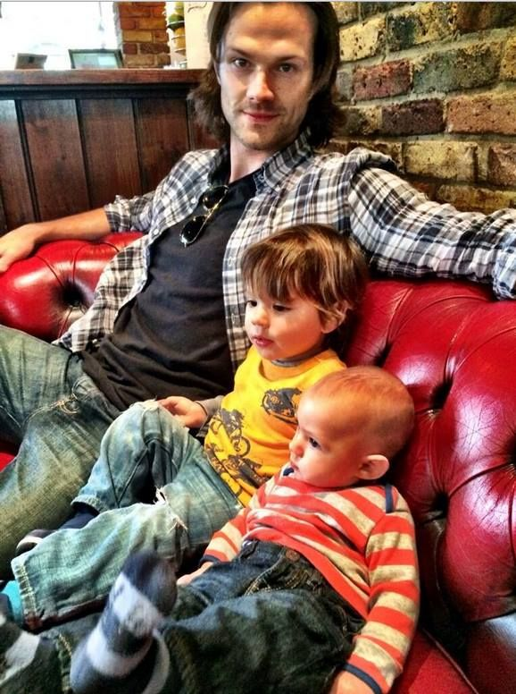 """Tweeted by Jared with caption, """"This is, literally, my favorite picture of all time. Daddy takin his boys to their first English pub"""" https://twitter.com/jarpad/status/467086800582746112"""