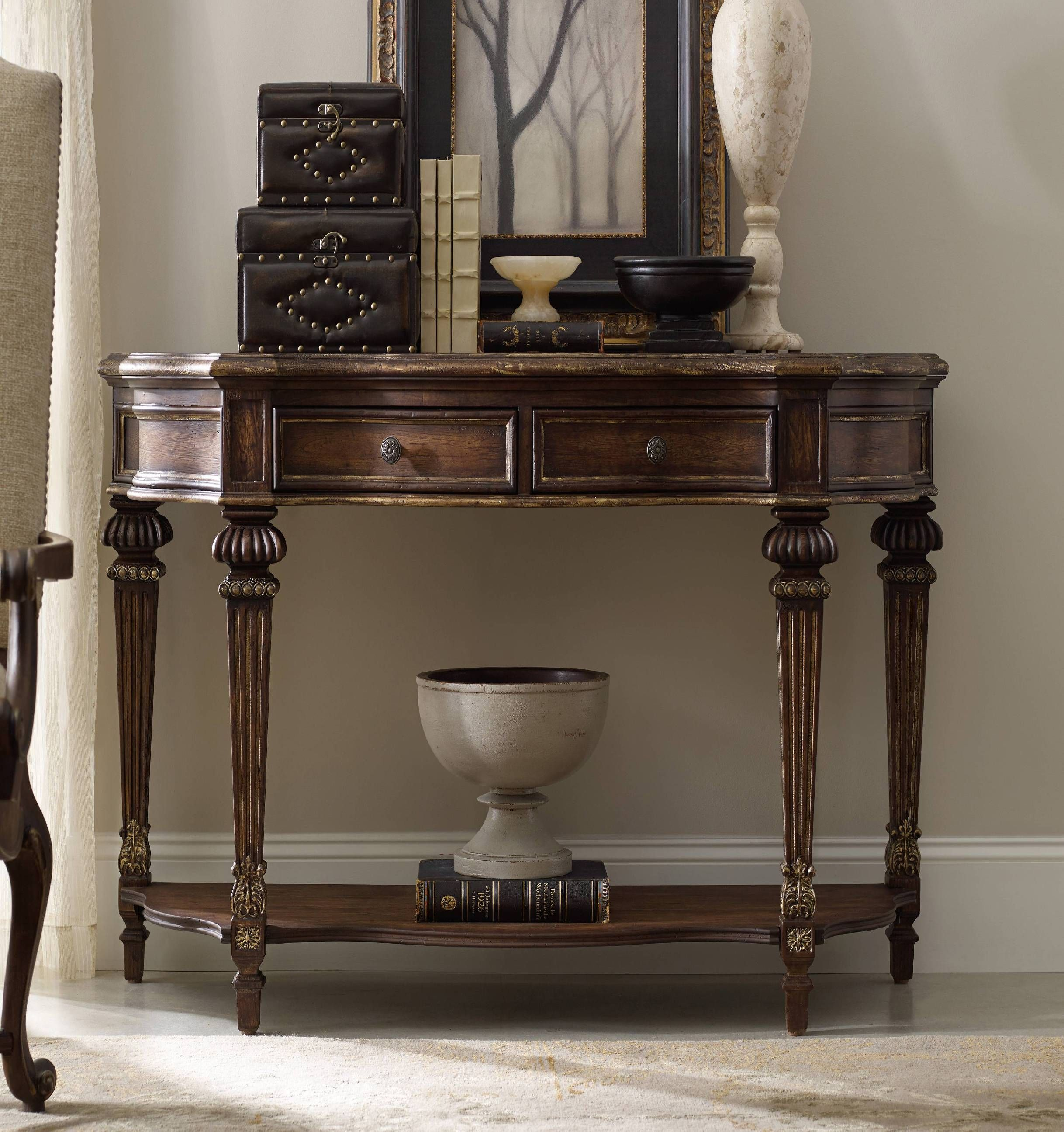 Hooker Furniture Living Room Adagio Console Table 5091 80151   Grossman  Furniture   Philadelphia,